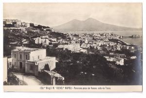 Italy Napoli Naples panorama dal Vomero via Tasso Brogi RPPC