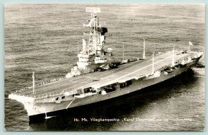 RPPC Dutch Military Ship After Renovation~Karel Doorman~Vliegkampschip~1940s?