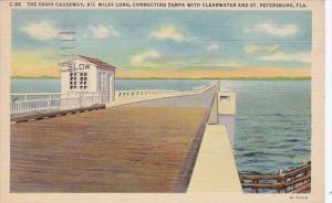 Florida St Petersburg The Davis Causeway 1937 Curteich