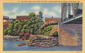 The Liile Rock The Little Rock From Whick The City Of Little Rock Took Its Na...