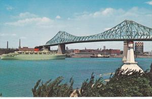 MONTREAL, PROVINCE of QUEBEC, Jacques Cartier Bridge, Passenger Liner, Canada...