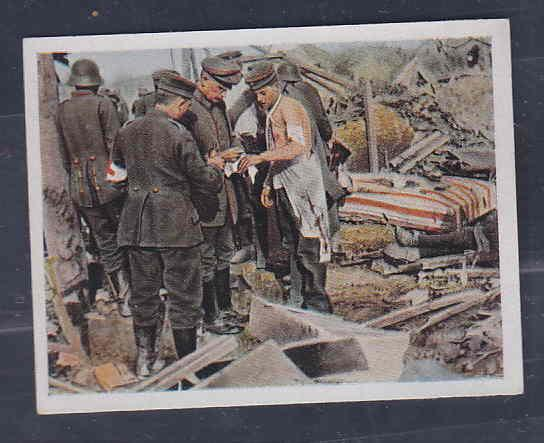 GERMANY TOBACCO CARD WWI 6x5 cms. SOLDIERS AAD5173