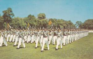 WEST POINT, New York; The Corps on Parade, Company Guidans flying, 40-60s