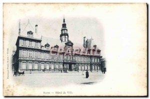 Old Postcard Reims Hotel De Ville