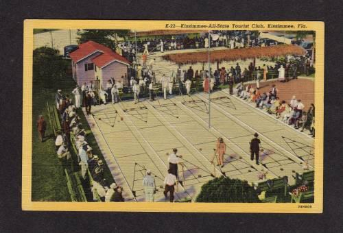 FL Shuffleboard Tourist Club KISSIMMEE FLORIDA POSTCARD