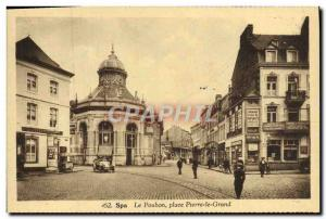 Old Postcard Spa Poubon Peter the Great Place