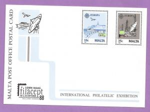 Malta #694-695 Europa Postal Card