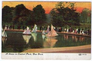 A Scene on Central Park, New York