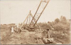 Men & Construction Equipment Grand Rapids WI Postmark c1910 Crance Postcard E64