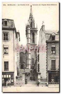 Old Postcard Morlaix The Belfry and Calvary Church St Melaine