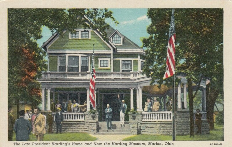 MARION , Ohio , 1930-40s; The Late President Harding's Home, Now Harding Museum