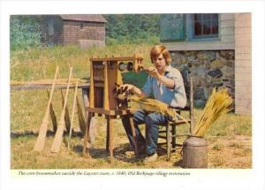 The Corn Broommaker Outside The Luyster Store, Old Bethpage Village Restorati...
