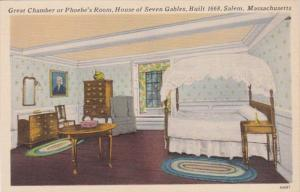 Massachusetts Salem House Of Seven Gables Great Chamber Or Phoebe's Room