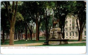 WATERBURY, Connecticut  CT   WELTON FOUNTAIN and The Green  1907   Postcard