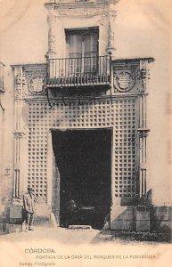 Portada de la Casa Del Marques de la Fuensanta Cordoba Spain Unused