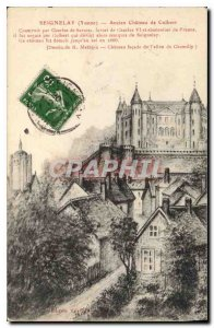 Postcard Old Seignelay Yonne Old Chateau Colbert
