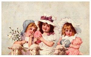 Children    Girls , Sheep