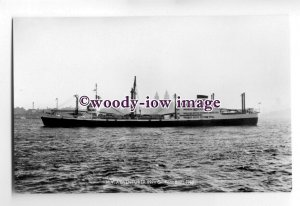 cb0755 - Harrison Line Cargo Ship - Adventurer , built 1960 - postcard