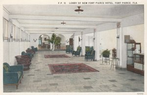 FORT PIERCE, Florida, 1900-10s; Lobby of New Fort Pierce Hotel