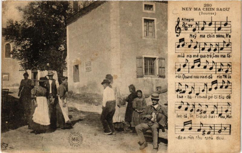 CPA Bourrée - Ney Ma Chin Saou - Folklore (690923)