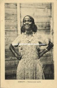 djibouti, Native Girl, Fathma Fatma Smiling (1930s)
