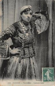 Algeria Mauresque Costume Riche Woman Ethnic Africa Postcard