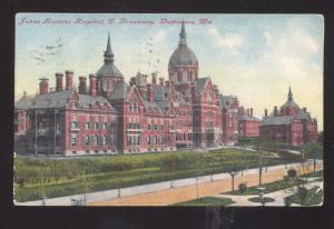 BALTIMORE MARYLAND JOHNS HOPKINS HOSPITAL VINTAGE POSTCARD LINCOLNVILLE ME