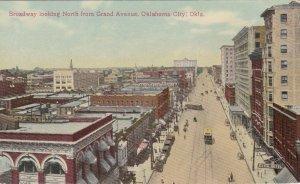 Oklahoma Oklahoma City Broadway Looking North From Grand Avenue sk3539