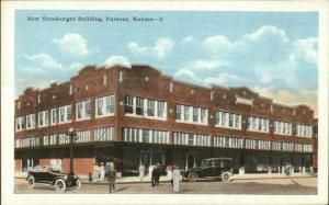 Parsons KS New Strasburger Bldg c1920 Postcard