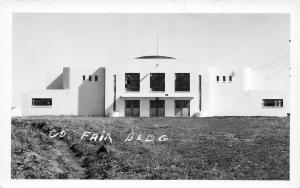 Fairview Oklahoma~Thick Grass @ Art Deco Major County Fair Building~RPPC 1940s