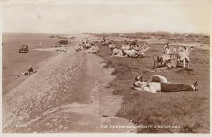 Knott End On Sea Sleeping Real Photo Lancashire Postcard