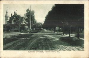 Union City PA Fourth Ave c1910 Postcard
