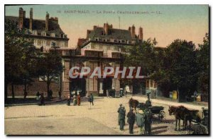 Old Postcard Saint Malo Chateaubriand Strong