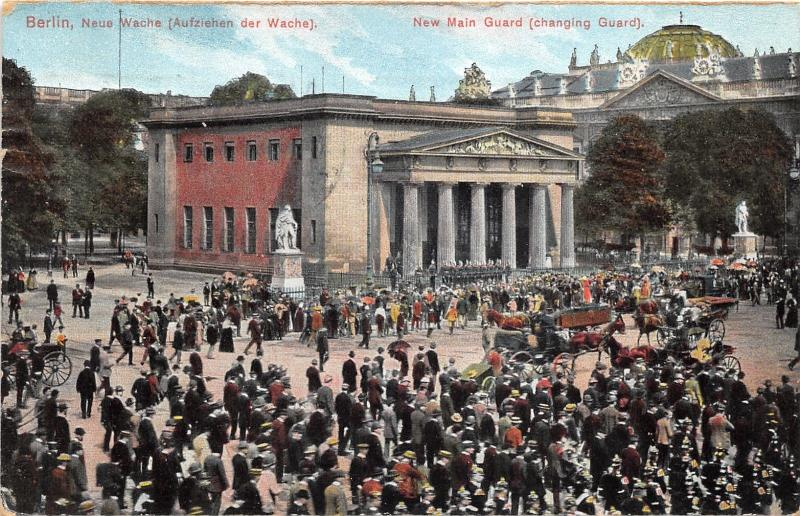 Berlin Germany~Neue Wache~Changing of Guard~Crowded Square~1911 Pc