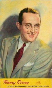 1940s Radio Music Star Tommy Dorsey RCA Advertising Postcard 21-7068