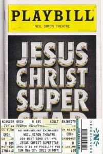 Jesus Christ Superstar Josh Young Neil Simon Theatre Playbill Programme & ROW...