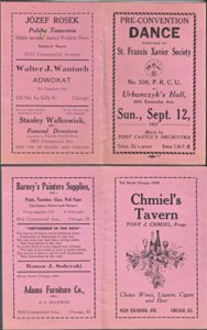 ADVERTISEMENT for the Pre - Convention Dance / CHICAGO 1937 St Francis Xavier
