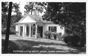 Warm Springs Georgia Little White House Real Photo Vintage Postcard JB626711