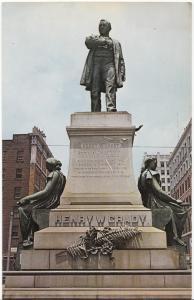 ATLANTA, GEORGIA, HENRY GRADY MONUMENT, unused Postcard
