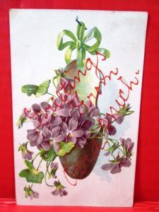 Postcard MI Greetings from Ovid Michigan 1907
