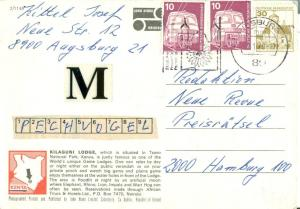 Kilaguni Lodge, Tsavo National Park Kenya 1979 used Postcard