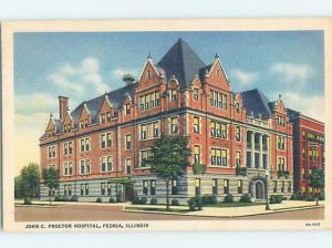 Linen HOSPITAL SCENE Peoria Illinois IL hs0309