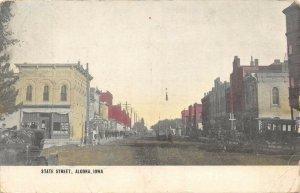 LP91 Algona Iowa Postcard State Street