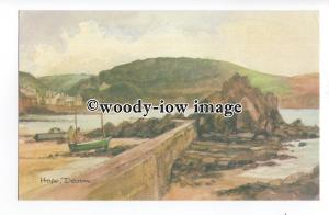 DS236 - Devon - Hope Cove from the Quay, Artist- David Skipp - Postcard
