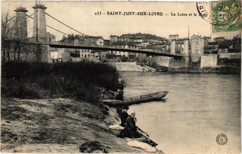 CPA St-JUST-sur-LOIRE - La Loire et le Pont (580872)