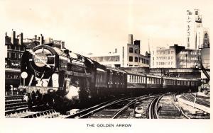 Victoria UK~Golden Arrow~Iron Duke~Railway Engine~Valentine Real Photo Postcard