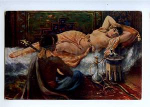 226601 HOOKAH Nude Slave BELLY DANCER HAREM by KOEHLER old