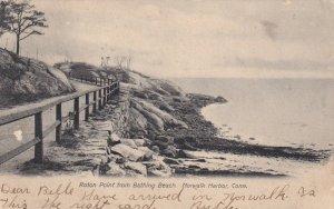 NORWALK, Connecticut, PU-1906; Roton Point From Bating Beach, Norwalk Harbor
