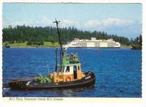 B.C Ferry, VancouverIsland, B.C. Canada, Ship & Tugboat, 70s