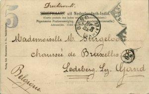 indonesia, BORNEO SAMARINDA, Boom, KPM Steamer Van der Lijn (1906) Postcard